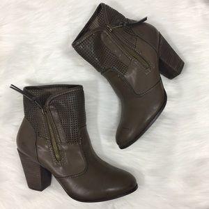 Report Booties Vegan Leather Heeled Boots Jamie